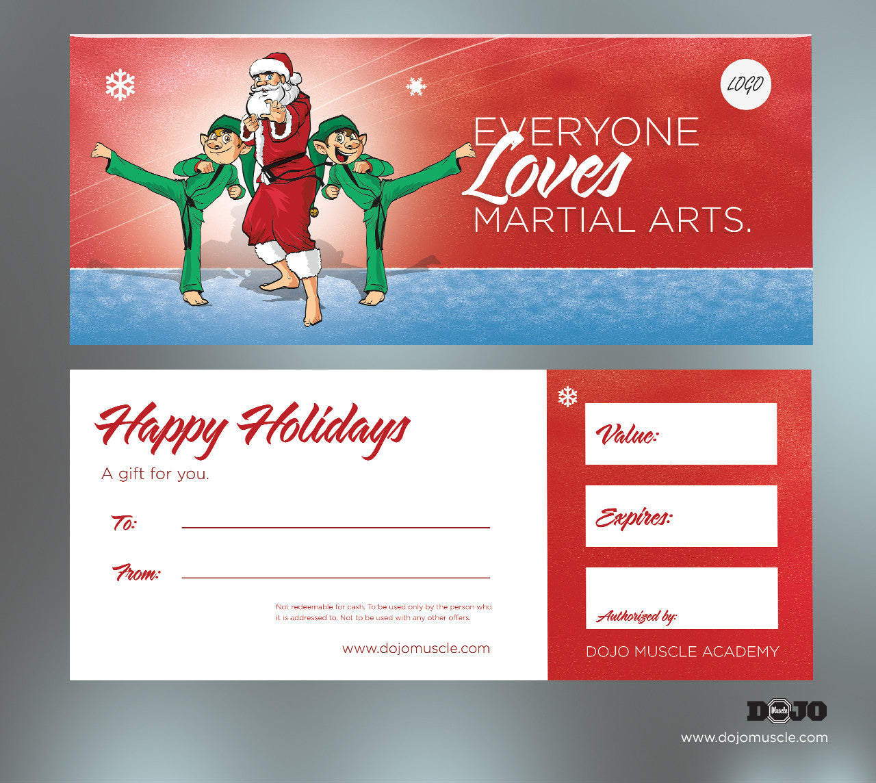 holiday gift certificate santa tiger style dojo muscle holiday gift certificates holiday gift certificates