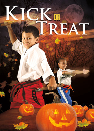 Kick or Treat Halloween Card 1c - Dojo Muscle