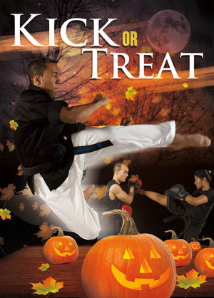 Kick or Treat Halloween Card 1f - Dojo Muscle
