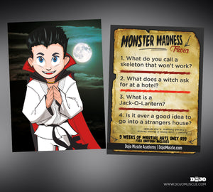 Monster Madness Halloween Trivia Cards - Dojo Muscle