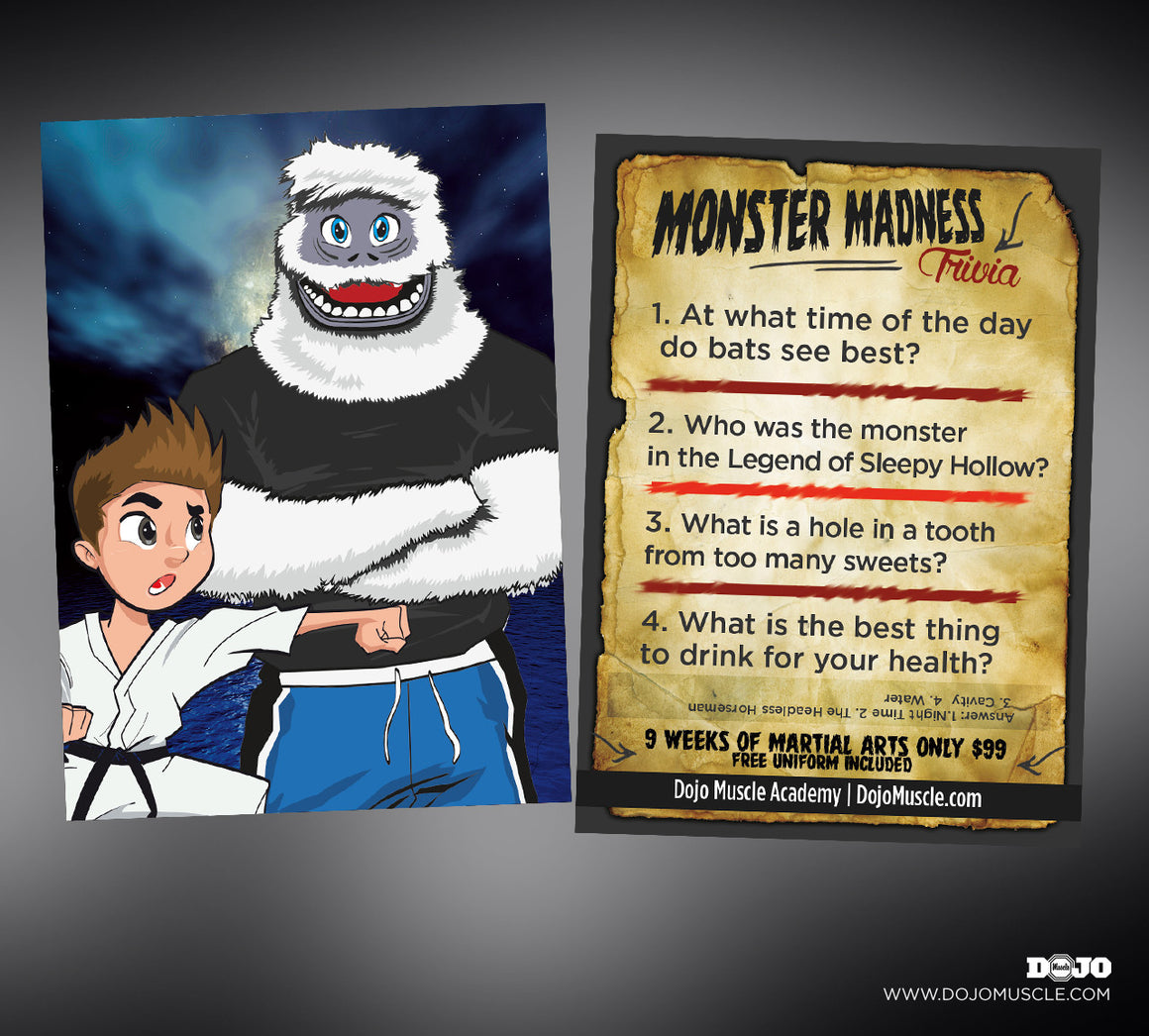 monster madness trivia cards 5 halloween - Halloween Monster Trivia