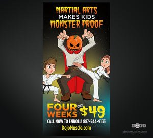 Monster Proof Banner 3 x 6 Vertical - Dojo Muscle