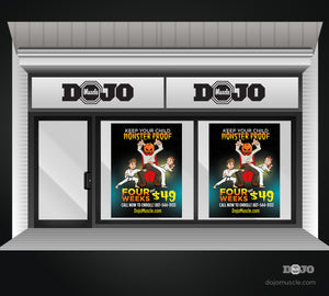 Halloween Monster Proof Window Decals - Dojo Muscle