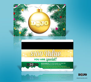 Dojo Muscle Plastic Gift Card - Holiday Geography Styles - Pine Trees - Dojo Muscle