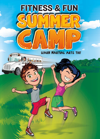 Fitness and Fun Summer Camp Post Cards Front