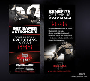 Rack Card Krav Maga Alliance 1b - Dojo Muscle
