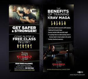 Rack Card Krav Maga Alliance 1c - Dojo Muscle