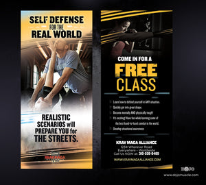 Rack Card Krav Maga Alliance 1f - Dojo Muscle
