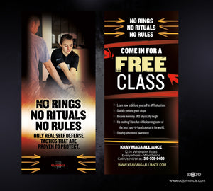 Rack Card Krav Maga Alliance 1h - Dojo Muscle