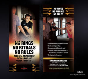 Rack Card Krav Maga Alliance 1i - Dojo Muscle