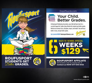 Roufusport Kickboxing Postcards Back To School Kids - Dojo Muscle