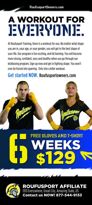 Roufusport Kickboxing Rack Cards 1a - Dojo Muscle