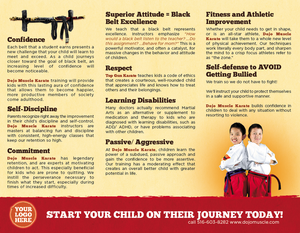 Karate Brochure - Dojo Muscle