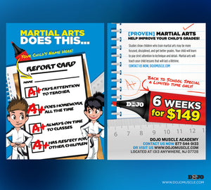 Back To School - Martial Arts Does This. Offer Card A - Dojo Muscle