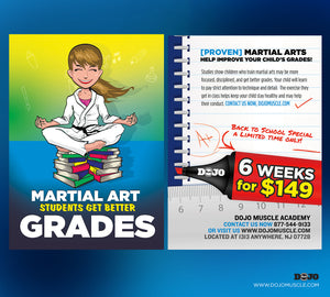 Back To School - Martial Arts Students Get Better Grades! 2D - Dojo Muscle
