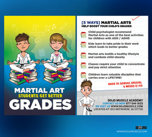 Back To School - Martial Arts Students Get Better Grades! 1A - Dojo Muscle