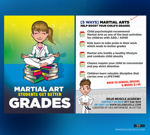 Back To School - Martial Arts Students Get Better Grades! 1B - Dojo Muscle