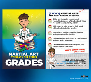Back To School - Martial Arts Students Get Better Grades! 1C - Dojo Muscle