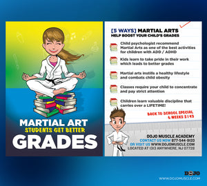 Back To School - Martial Arts Students Get Better Grades! 1D - Dojo Muscle
