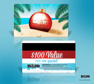 Dojo Muscle Plastic Gift Card - Holiday Geography Styles - Hot Weather - Dojo Muscle