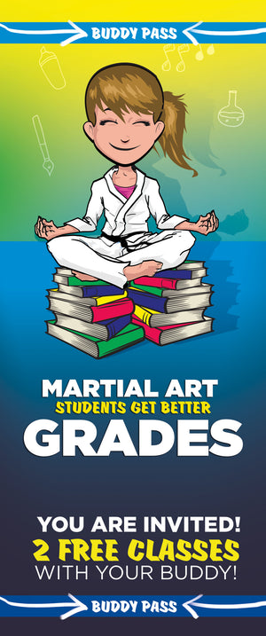 Buddy Pass Back To School Martial Arts Students Get Better Grades - Dojo Muscle