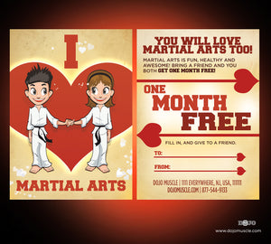 I Love Martial Arts - Valetine's Day Cartoon Series 1 - Dojo Muscle