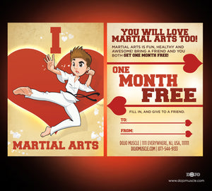 I Love Martial Arts - Valetine's Day Cartoon Series 2 - Dojo Muscle