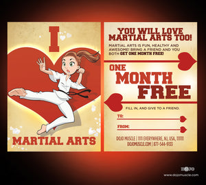 I Love Martial Arts - Valetine's Day Cartoon Series 3 - Dojo Muscle