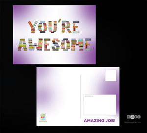 Kids Love Life Skills Student Retention Cards - You're Awesome - Dojo Muscle