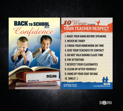Back to School Ad Cards - Confidence