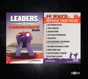 Back to School Ad Cards - Leaders - Dojo Muscle