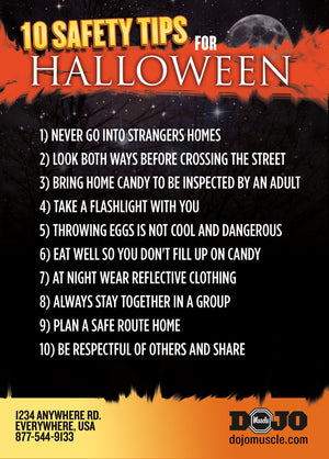 Kick or Treat Safety Tips Halloween Card 3d