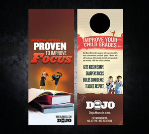 Back to School Door Hangers - Focus - Dojo Muscle