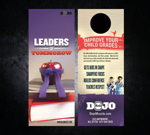 Back to School Door Hangers - Leaders - Dojo Muscle