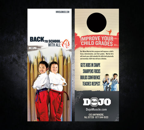 Back to School Door Hangers - All A's