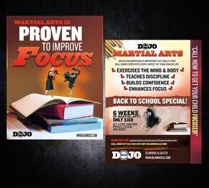 Back to School Flyer - Focus - Dojo Muscle