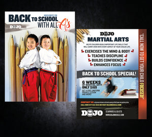 Back to School Flyer - All A's - Dojo Muscle