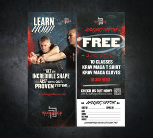 Tear Off Cards - Krav Maga 1 - Dojo Muscle