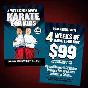 Kids Karate- Special Offer Flyer - Dojo Muscle