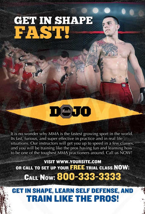 Mixed Martial Arts Postcards - Dojo Muscle