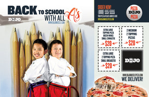 Back to School Pizza Box Toppers - All A's - Dojo Muscle