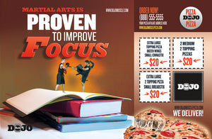Back to School Pizza Box Toppers - Focus - Dojo Muscle