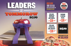 Back to School Pizza Box Toppers - Leaders - Dojo Muscle