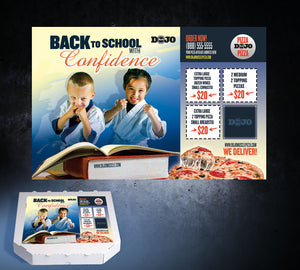 Back to School Pizza Box Toppers - Confidence - Dojo Muscle