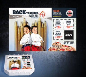 Back to School Pizza Box Toppers - All A's