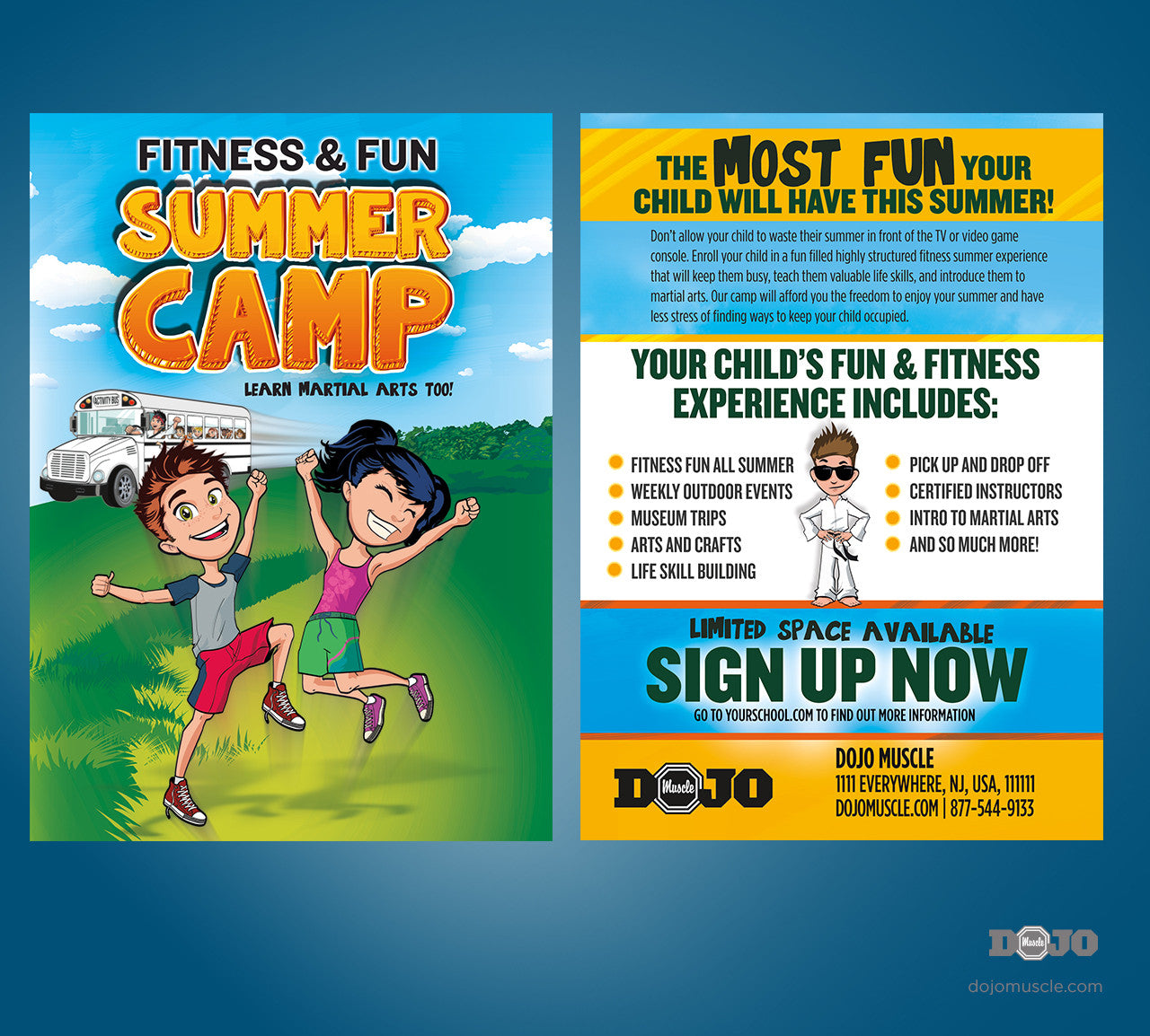 Summer Camps: Fitness And Fun Summer Camp Post Card