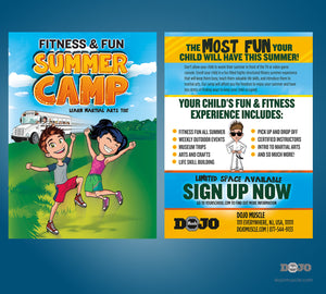 Fitness and Fun Summer Camp Post Card - Dojo Muscle