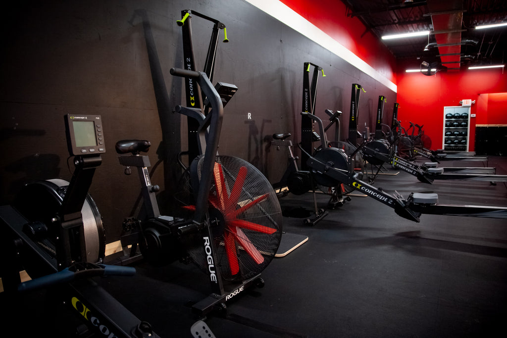 SkiErgs, rowing machines and bikes