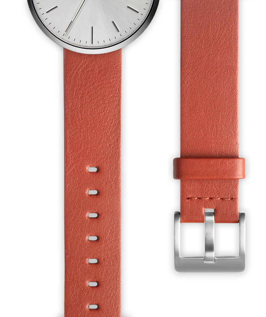 Tan nappa calf leather watch strap