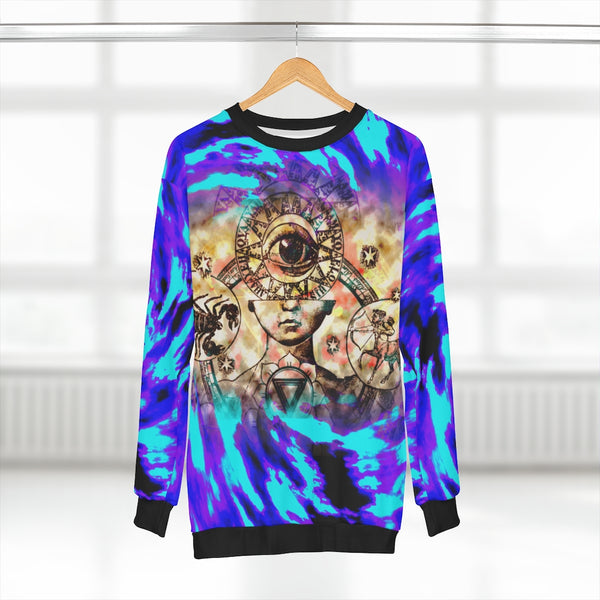 Third Eye Mistic Sweatshirt Purple Unisex Polyester Cotton